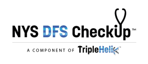 New York State Department of Finance Cyber Regulations Checkup Logo - the checkup is a component of TripleHelix
