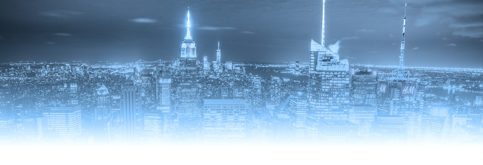 New York State Cyber Regulations landing page with black and white new york city skyline