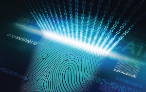 biometric fingerprint scan for identification